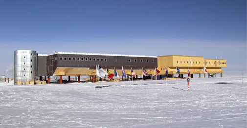 Amundsen-Scott South Pole Station. Credit: NSF/USAP