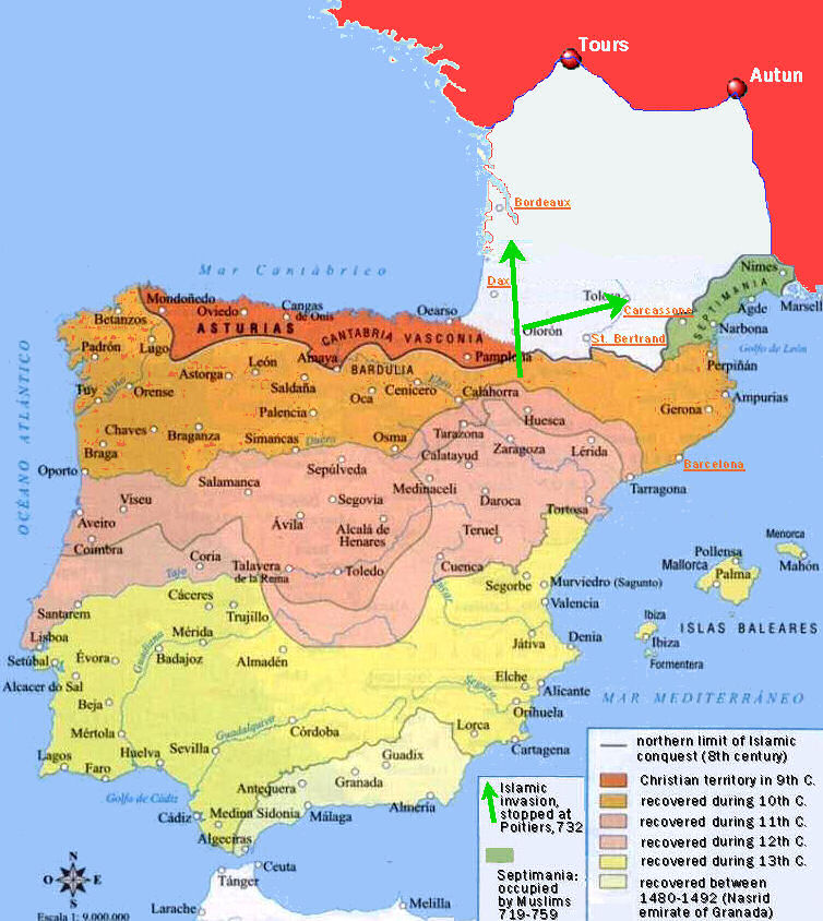 Map Of Spain During Muslim Rule.The Myth Of Islamic Tolerance In Al Andalus Briefing Document