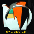 Jazz Teapot by Clarice Cliff