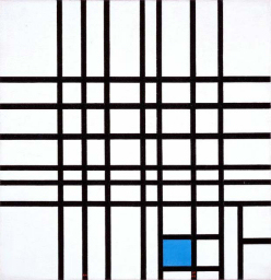Piet Mondrian - Composition No. 12 with Blue (1936 - 1942 )
