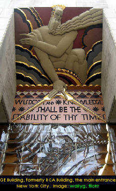 Wisdom, Rockerfeller Center, New York. Image: wallg, flickr