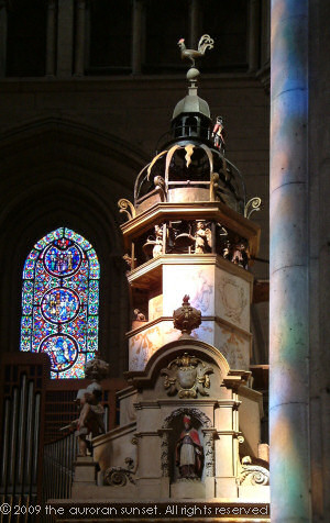 The astronomical clock in Lyon Cathedral