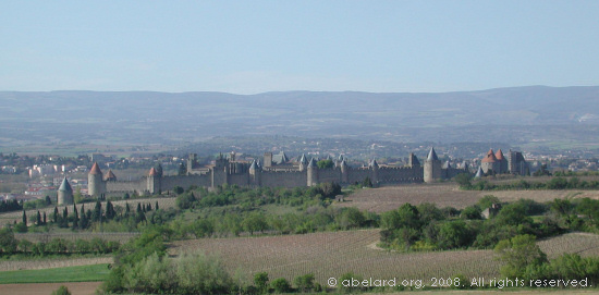 The medieval walled city of Carcassonne