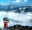 First cable car to the Pic du Midi