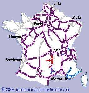 Motorways Autoroutes Of France Showing The A75 Autoroute Including Viaduc De Millau