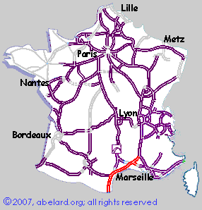 Motorway Map Of France.Motorway Aires Aires On The A9 Catalan Autoroute France Zone At