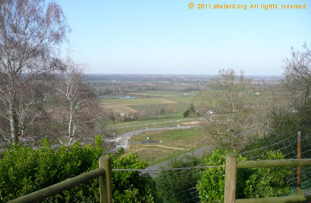 View of the Chalossais valley from the Place Chantilly in central Mugron