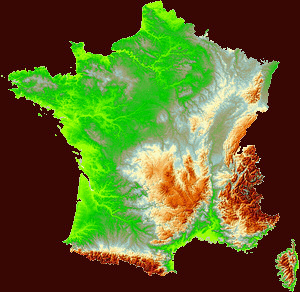 Map Of France With Mountains.The Pyrenees Mountain Range France Zone At Abelard Org