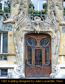 1901 building designed by Jules Lavarotte, Paris