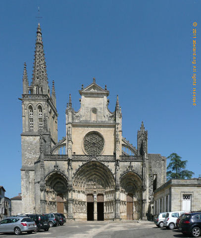 Bazas cathedral, west facade