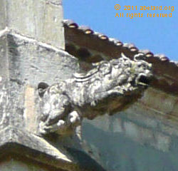 Leaping gargoyle on Bazas cathedral