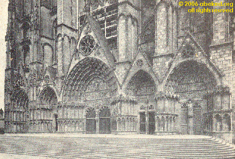 The Five Arch Portal At West Facade Of Bourges Cathedral