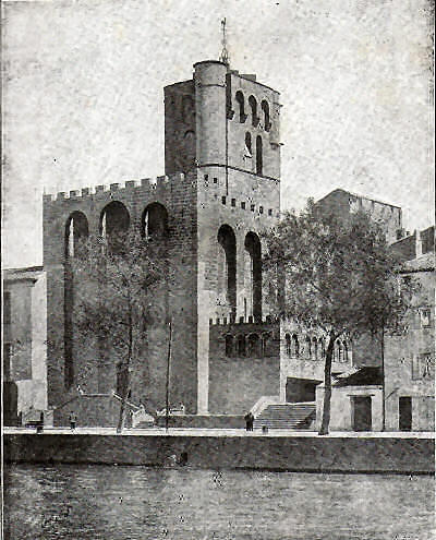 West side of Agde cathedral, facing the River Hérault