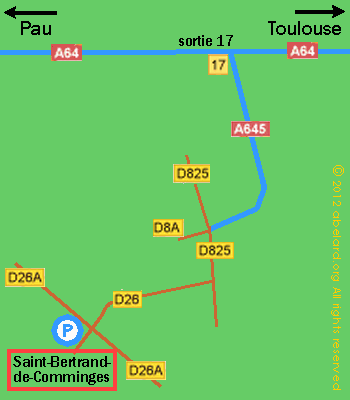 Location map for Saint-Bertrand