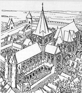 Cathedral destruction by the huguenots and during the for Plan de belley