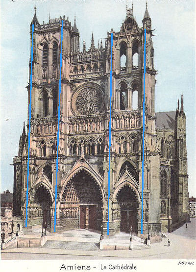 Cathedral of Notre Dame West Facade Amiens Cathedral West Facade