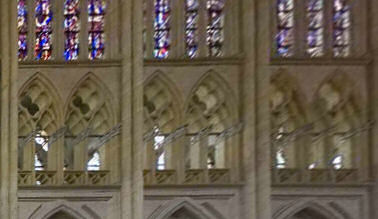Part of the tribune level at Troyes cathedral