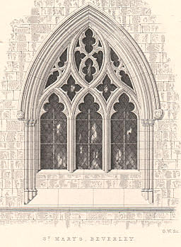 Gothic Window Beverley Church England Arch