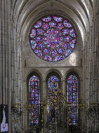 East rose window at Laon cathedral