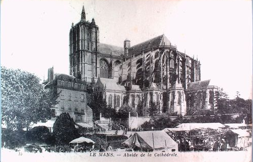 Le Mans catherdal, view of apse