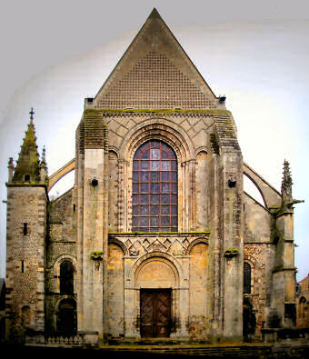 West facade of la Cathédrale St-Julien du Mans