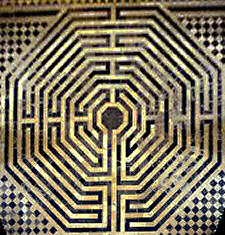 photograph of the actual labyrinth at Saint Quentin