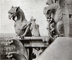 Grotesques on Notre-Dame de Paris