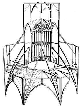 Wooden skeleton of Ely cathedral lantern tower