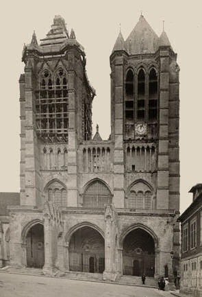 West front of Notre-Dame de Noyon cathedral