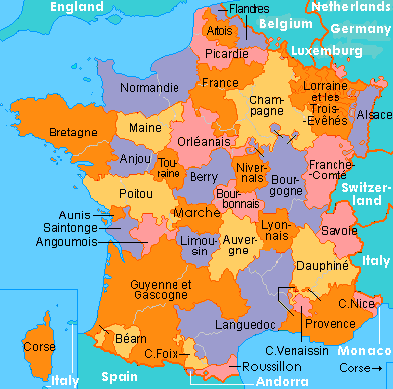 France's provinces under the Old Regime.
