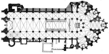 Floor plan of Bazas cathedral