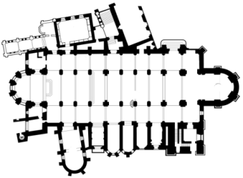 besancon cathedral plan