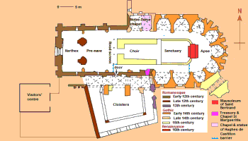 plan of the cathedral of Saint-Bertrand-de-Comminges