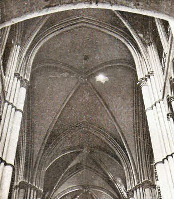 Vaulting net at Reims cathedral