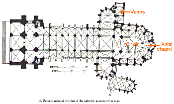 Noyon cathedral plan