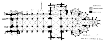 Floor plan of Evreux cathedral