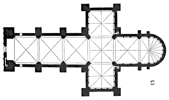 Angers cathedral, floor plan