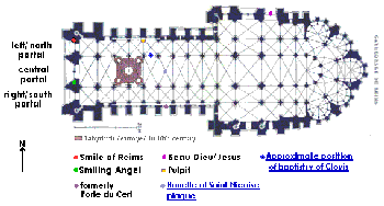 Reims cathedral plan