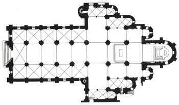 Floor plan of Saint-Sever abbey church