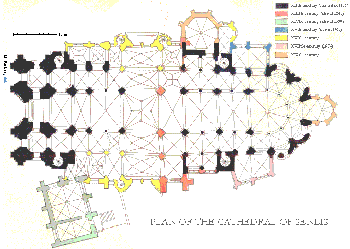 senlis cathedral plan