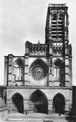 The west facade, Soissons cathedral