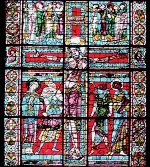 middle section of East window at Poitiers