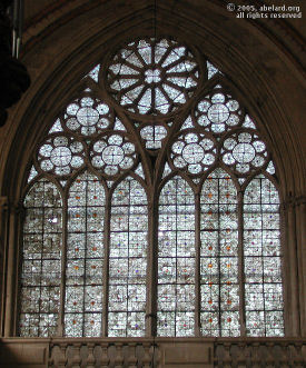Grisaille window, Poitiers cathedral