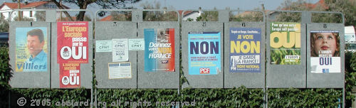 Posters in France for the European Constitution referendum