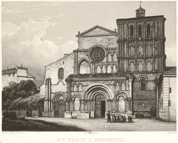 Saint-Croix, Bordeaux (print dates from 1841)