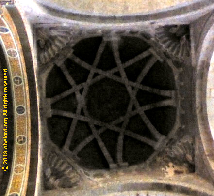 Squinches  beneath the dome of Eglise Saint-Croix at Oleron-Sainte-Marie