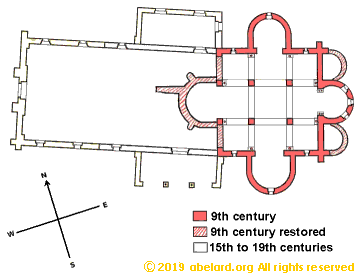 Floor plan  of the oratory at Germigny-des-Pr�s