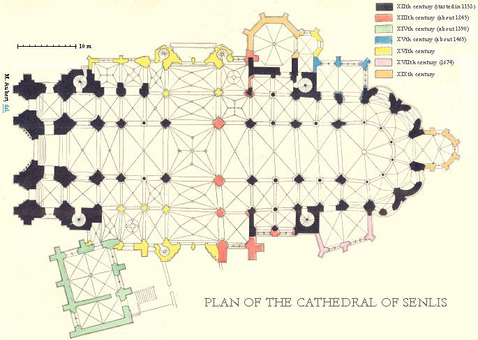 Plan of the Cathedral of Senlis