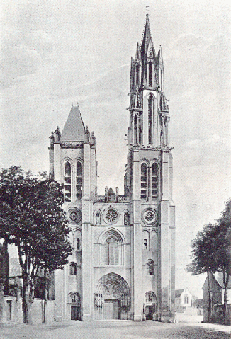 West facade of Senlis cathedral [image probably circa 1915]