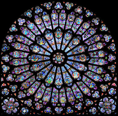 Rayonnant Rose Window South Transept Notre Dame De Paris